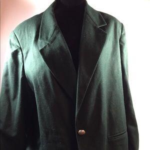 Hunter green wool blazer